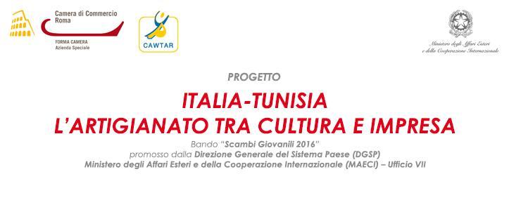 """Progetto """"ITALIA-TUNISIA. L'ARTIGIANATO TRA CULTURA E IMPRESA"""""""